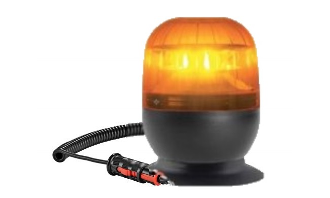 Rotating beacon Amber LED<br>Magnetic Base with Suction Pad<br>12/24 V